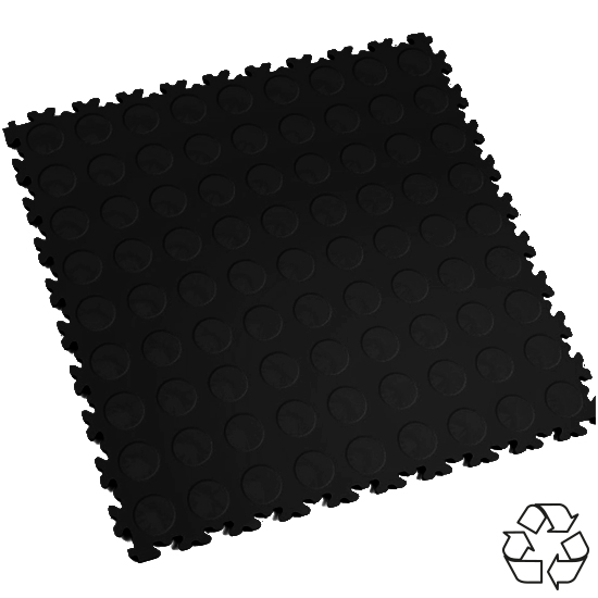 Motolock Black Recycled Cointop Interlocking Tile