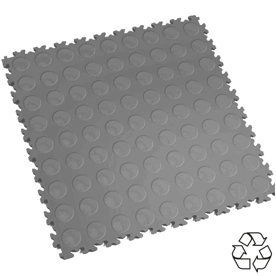 Motolock Mid Grey Recycled Cointop Interlocking Tile